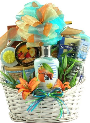 Gift Basket Village Seaside Scent-Station Tropical Spa and Gourmet Gift Basket