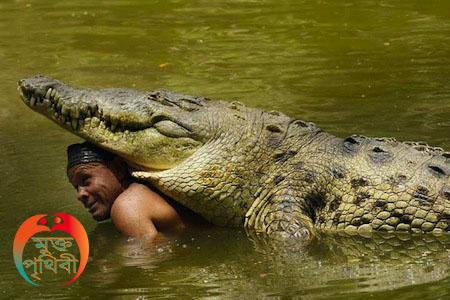 মানুষ এবং কুমিরের বন্ধুত্ব, Crocodal and man friendship