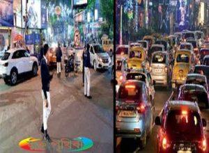 কলকাতায় একরাতে গ্রেফতার ১৩৪০ এবং ২৫০০ - এর বেশী মামলা